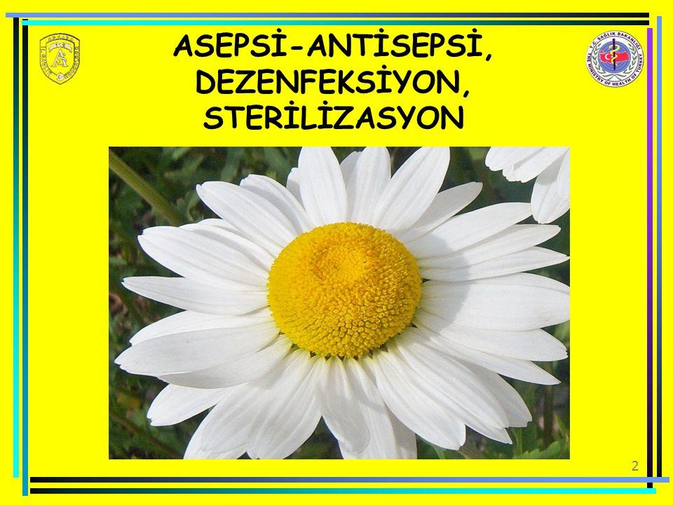 2 ASEPSİ-ANTİSEPSİ, DEZENFEKSİYON, STERİLİZASYON