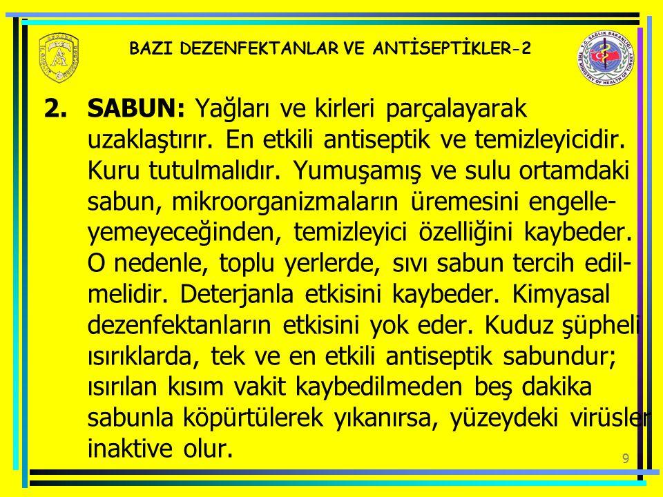 20 AMBULANS TEMİZLİĞİ VE DEZENFEKSİYONU-5 2.DEZENFEKSİYON.