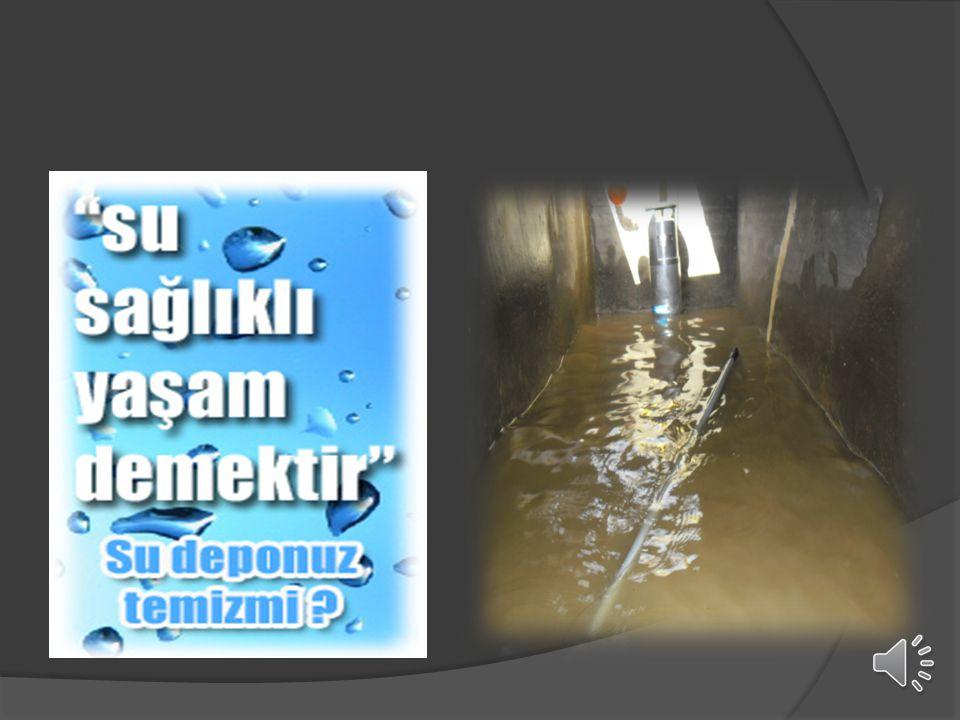 Depoda bu durumda bulunan suyun kullanılması TİFO, KOLERA, SARILIK, İSHAL ve LEJYONEL gibi hastalıklara yol açmakta.