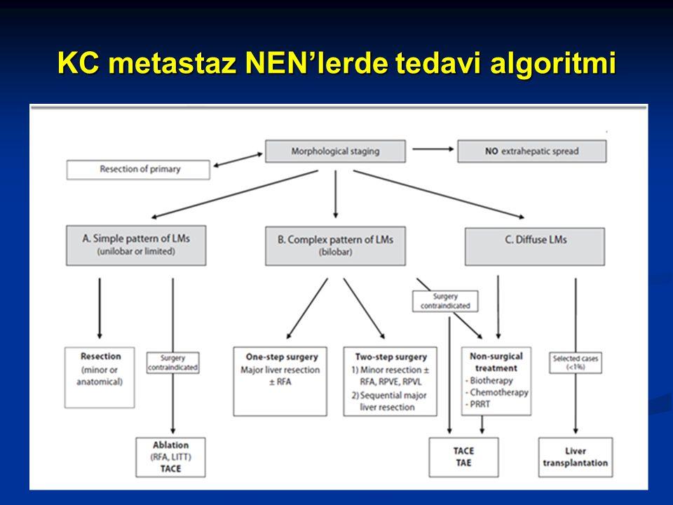 KC metastaz NEN'lerde tedavi algoritmi 32
