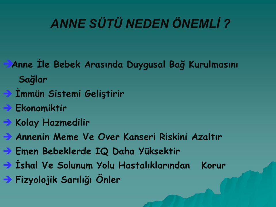 ANNE SÜTÜ NEDEN ÖNEMLİ .
