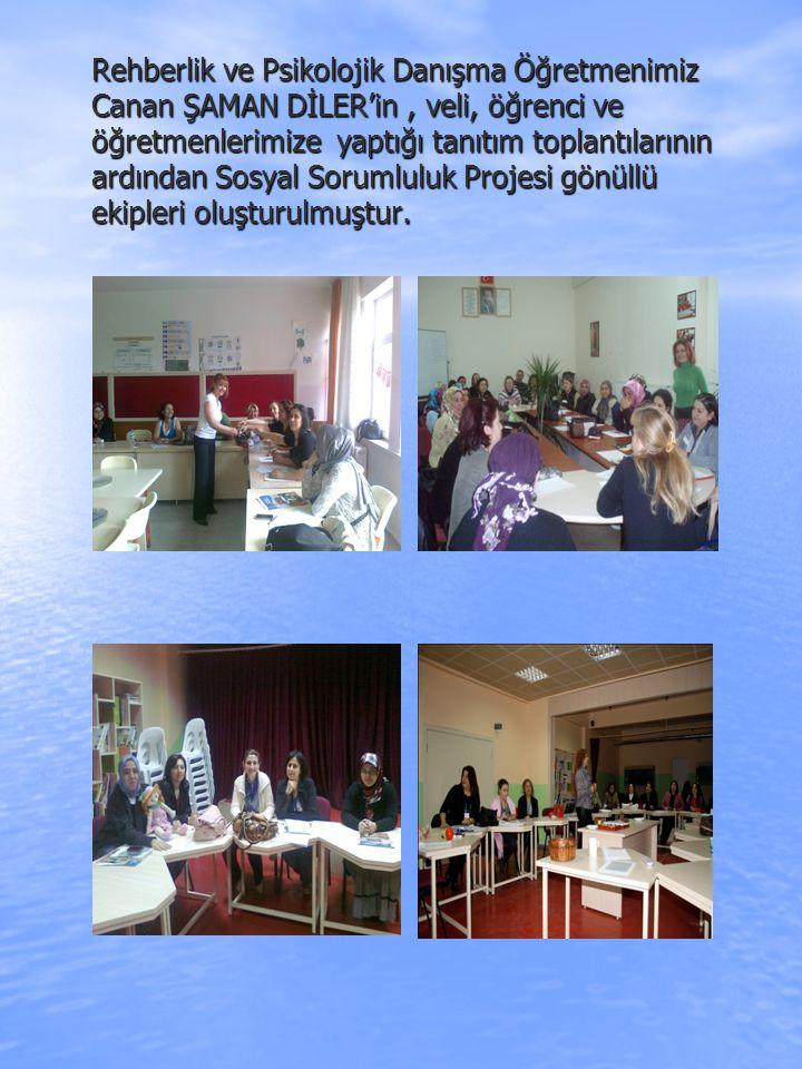 Rehberlik ve Psikolojik Danışma Öğretmenimiz Canan ŞAMAN DİLER'in, veli, öğrenci ve öğretmenlerimize yaptığı tanıtım toplantılarının ardından Sosyal S