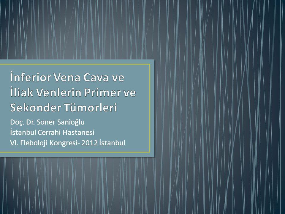 Doç. Dr. Soner Sanioğlu İstanbul Cerrahi Hastanesi VI. Fleboloji Kongresi- 2012 İstanbul