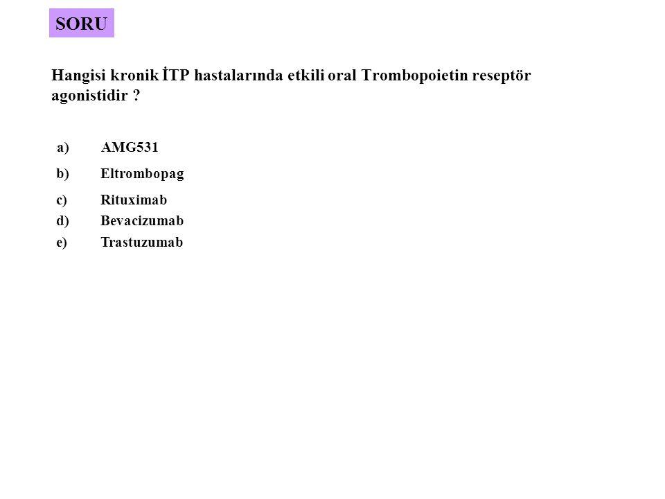 Hangisi kronik İTP hastalarında etkili oral Trombopoietin reseptör agonistidir .
