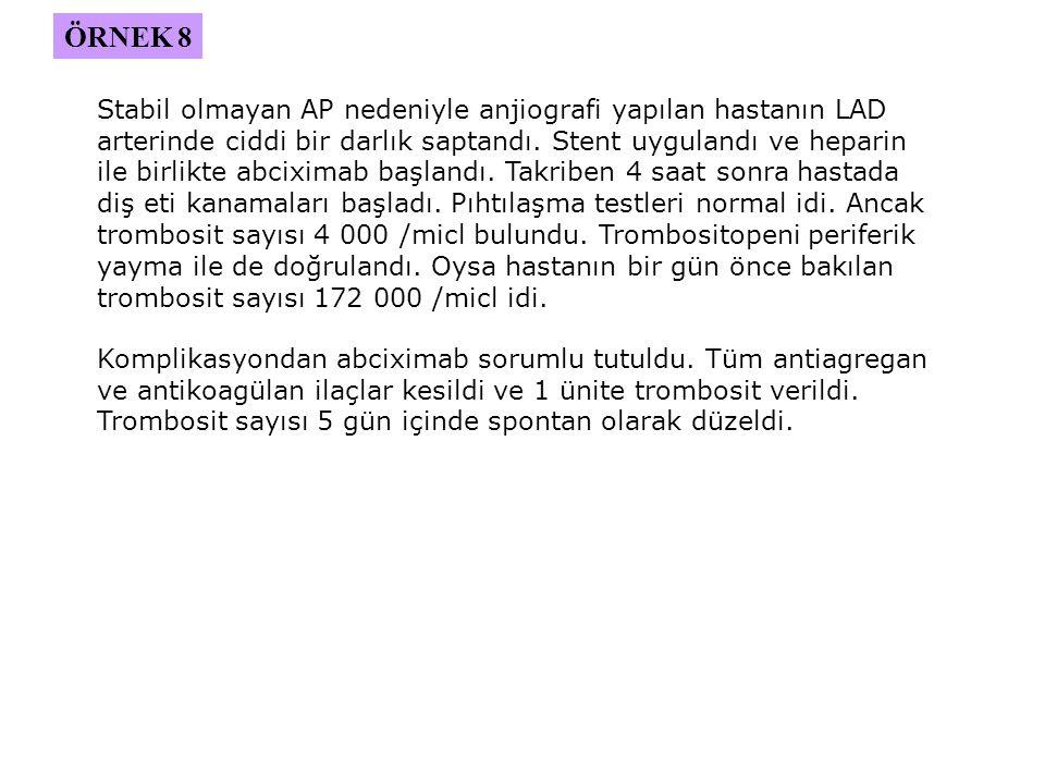 Stabil olmayan AP nedeniyle anjiografi yapılan hastanın LAD arterinde ciddi bir darlık saptandı.