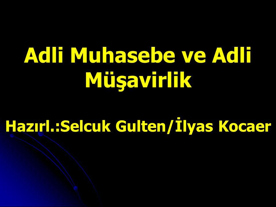 Adli Muhasebe ve Adli Müşavirlik Hazırl.:Selcuk Gulten/İlyas Kocaer