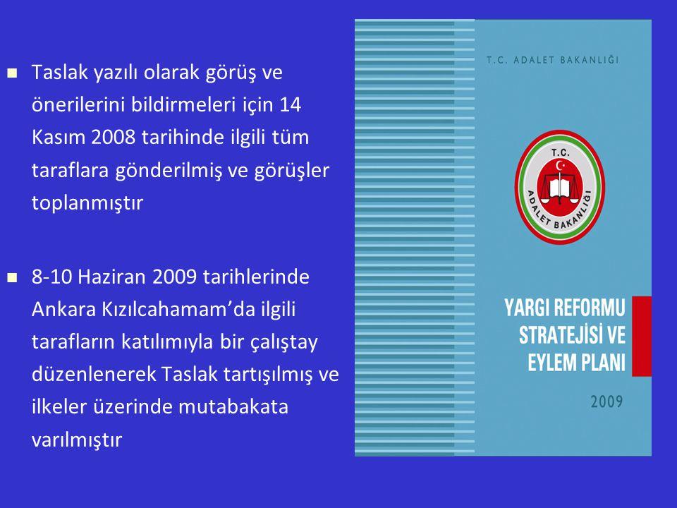 Taslak yazılı olarak görüş ve önerilerini bildirmeleri için 14 Kasım 2008 tarihinde ilgili tüm taraflara gönderilmiş ve görüşler toplanmıştır 8-10 Haziran 2009 tarihlerinde Ankara Kızılcahamam'da ilgili tarafların katılımıyla bir çalıştay düzenlenerek Taslak tartışılmış ve ilkeler üzerinde mutabakata varılmıştır