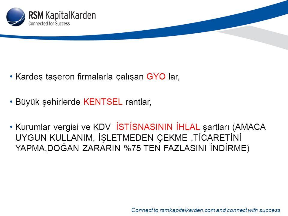 Connect to rsmkapitalkarden.com and connect with success Kardeş taşeron firmalarla çalışan GYO lar, Büyük şehirlerde KENTSEL rantlar, Kurumlar vergisi