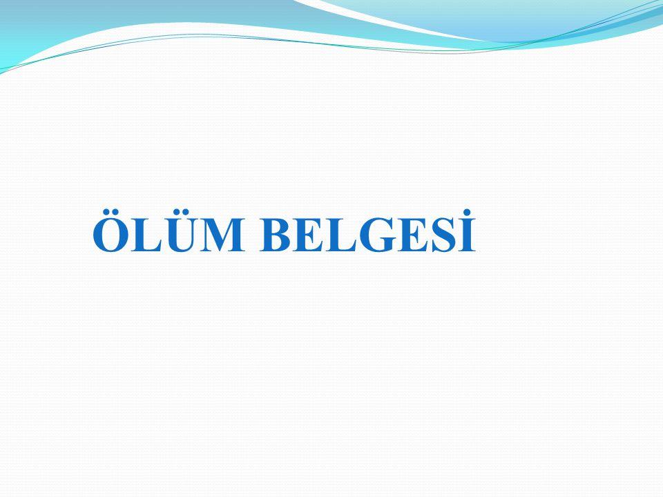 ÖLÜM BELGESİ