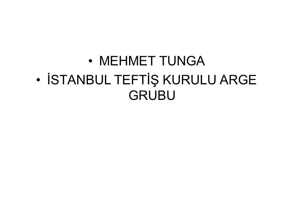 MEHMET TUNGA İSTANBUL TEFTİŞ KURULU ARGE GRUBU