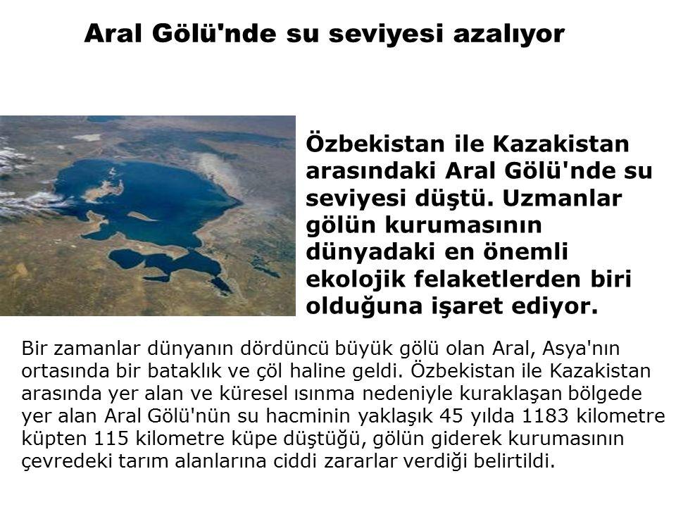 Bir zamanlar dünyanın dördüncü büyük gölü olan Aral, Asya nın ortasında bir bataklık ve çöl haline geldi.