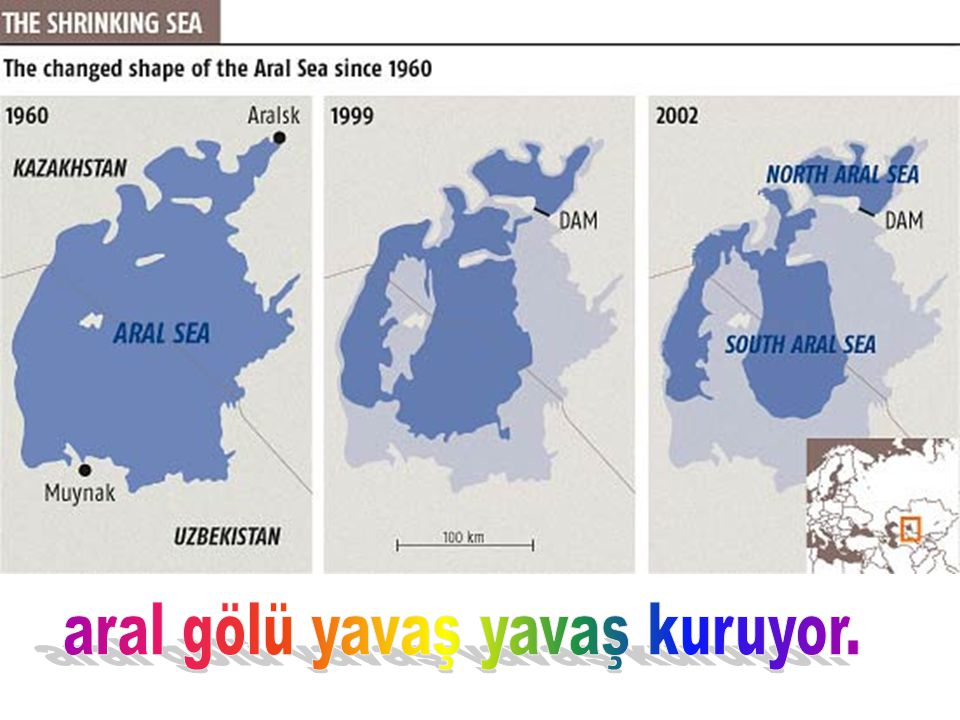 Aral Sea – 1977 to 2001