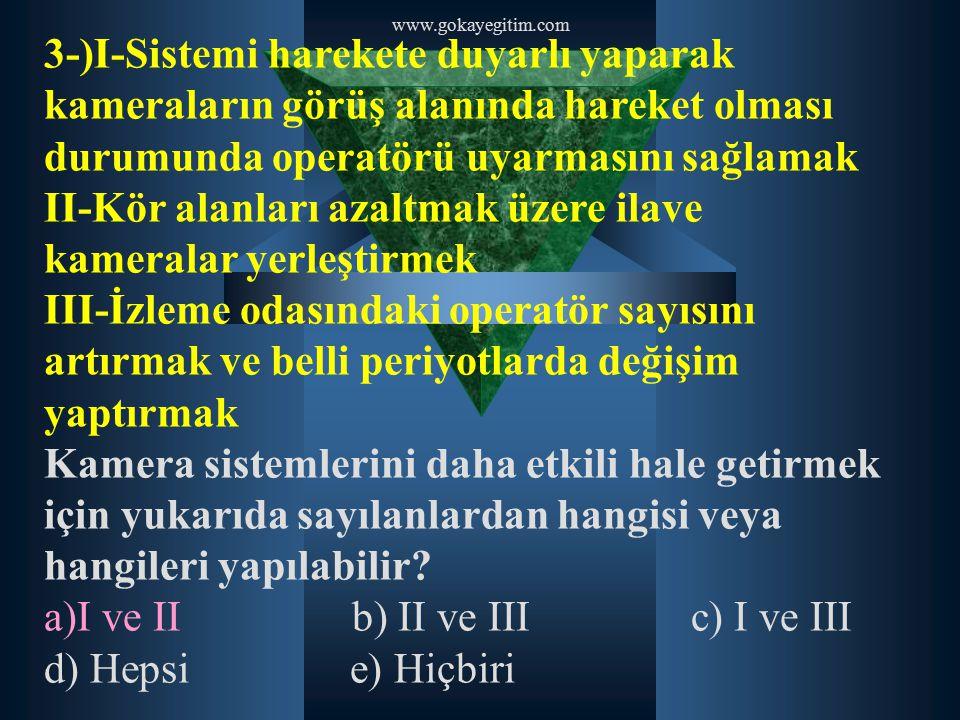 www.gokayegitim.com 20-)Etkili iletişim için beden dilinin kullanılmasına ilişkin aşağıdakilerden hangisi yanlıştır.