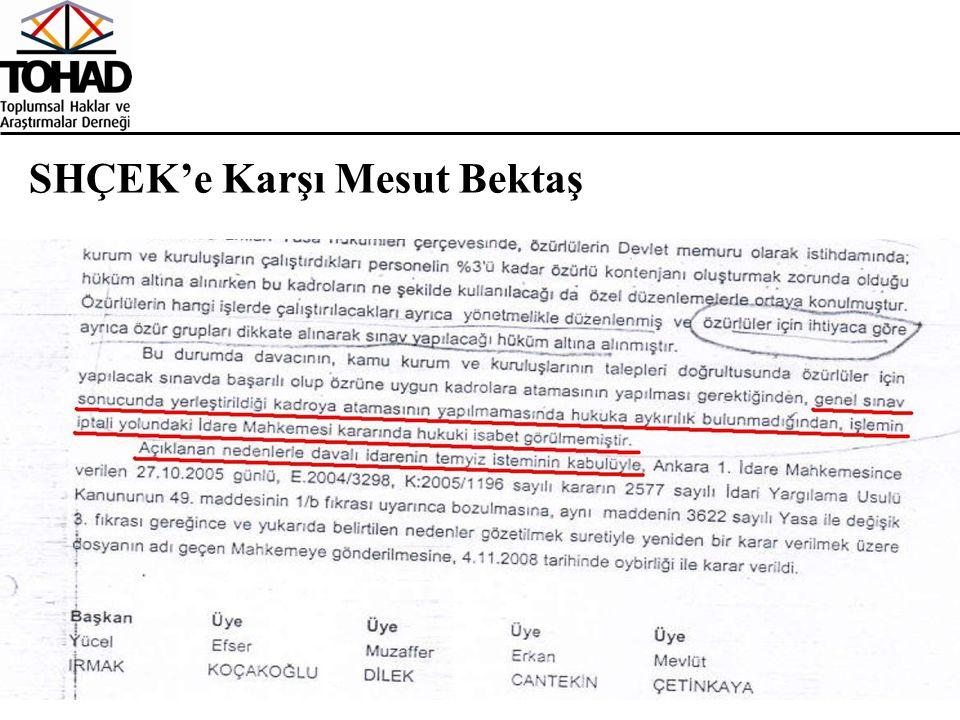 SHÇEK'e Karşı Mesut Bektaş