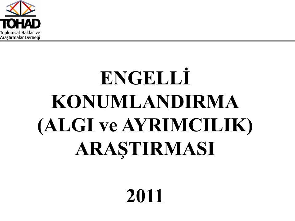 ENGELLİ KONUMLANDIRMA (ALGI ve AYRIMCILIK) ARAŞTIRMASI 2011