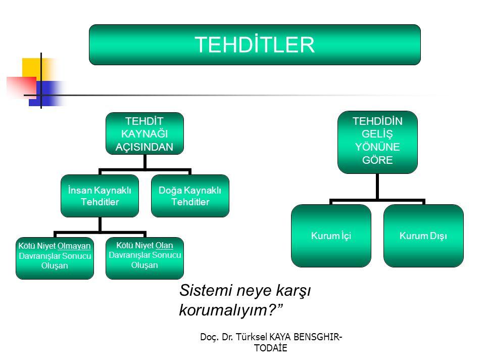 """Doç. Dr. Türksel KAYA BENSGHIR- TODAİE TEHDİTLER Sistemi neye karşı korumalıyım?"""""""