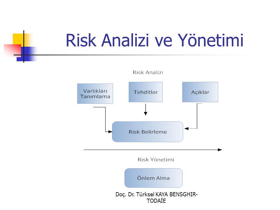 Doç. Dr. Türksel KAYA BENSGHIR- TODAİE Risk Analizi ve Yönetimi