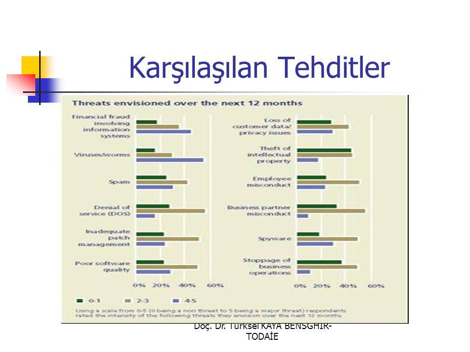 Doç. Dr. Türksel KAYA BENSGHIR- TODAİE Karşılaşılan Tehditler