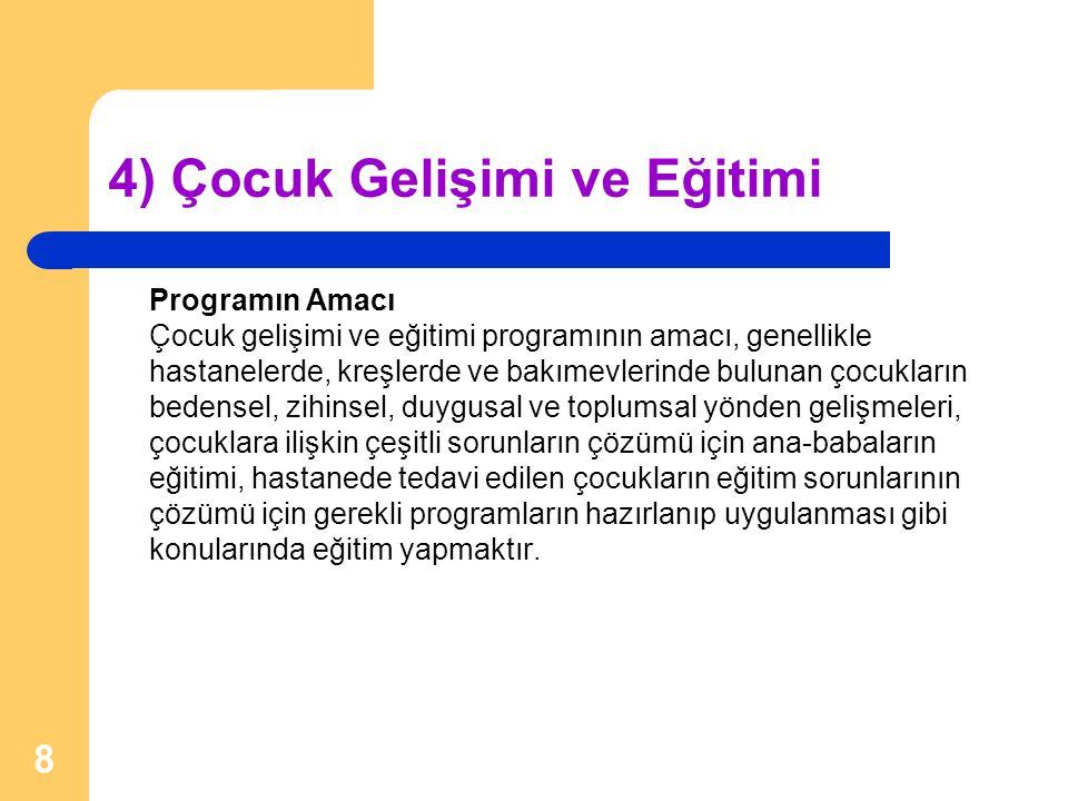 3) Türk Dili ve Edebiyatı Programın Amacı Türk dili ve edebiyatı programının amacı, Türk dilinin yapısını, gelişmesini ve diğer dillerle olan bağlantısını, Türk edebiyatının tarihini ve bugünkü durumunu inceleyecek elemanlar yetiştirmektir.