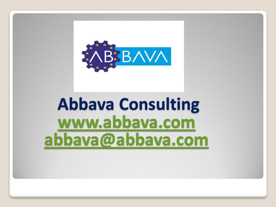 Abbava Consulting www.abbava.com abbava@abbava.com Abbava Consulting www.abbava.com abbava@abbava.com www.abbava.com abbava@abbava.com www.abbava.com abbava@abbava.com