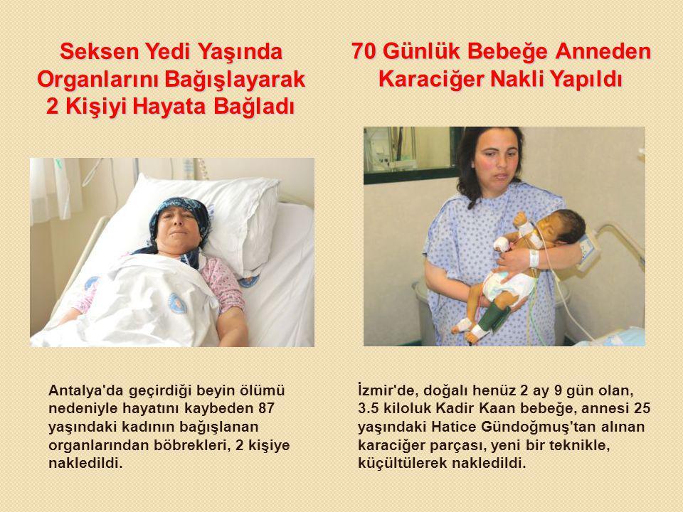 Seksen Yedi Yaşında Organlarını Bağışlayarak 2 Kişiyi Hayata Bağladı 70 Günlük Bebeğe Anneden Karaciğer Nakli Yapıldı Antalya'da geçirdiği beyin ölümü