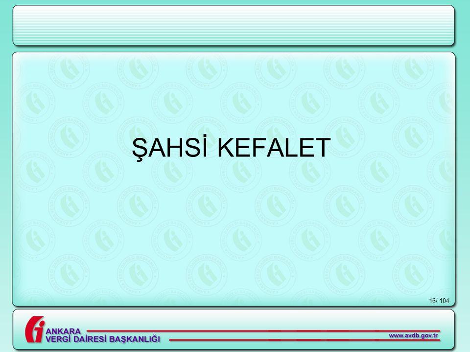 / 10416 ŞAHSİ KEFALET