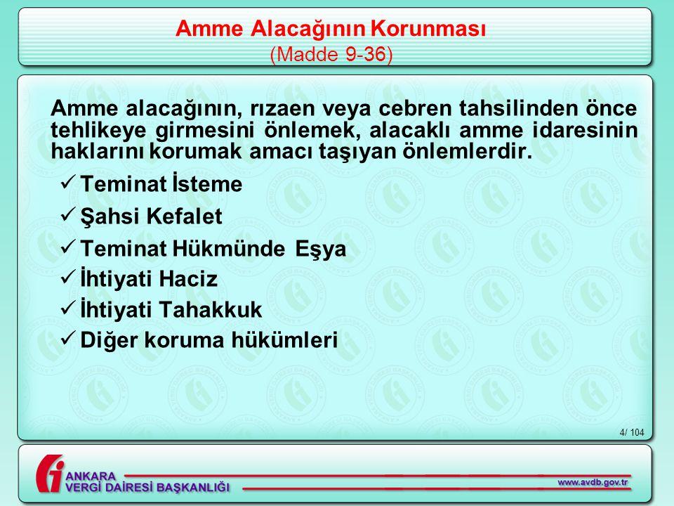 / 1045 TEMİNAT İSTEME