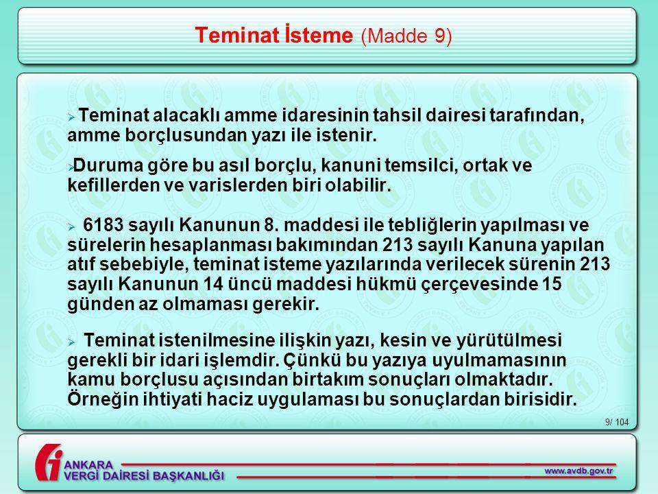 / 10420 Teminat Hükmünde Olan Eşya (Madde 12)  Kira ile tutulmuş yerlerde, gayrimenkul sahibinin demirbaş olarak kayıtlı eşya ve malzemesi teminat hükmünde değildir.