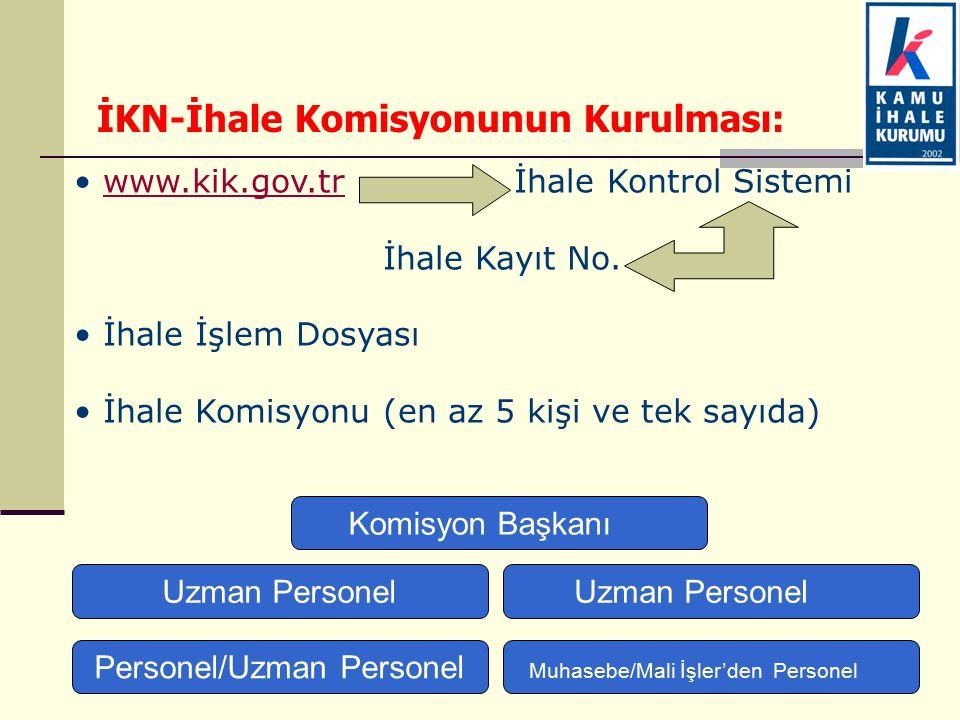 www.kik.gov.tr İhale Kontrol Sistemiwww.kik.gov.tr İhale Kayıt No. İhale İşlem Dosyası İhale Komisyonu (en az 5 kişi ve tek sayıda) İKN-İhale Komisyon