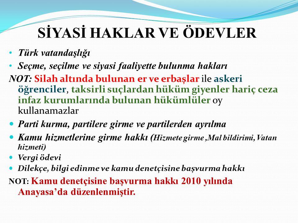 Cumhuriyetin Temel Organları YASAMA-Türk Milleti Adına-TBMM YÜRÜTME-Cumhurbaşkanı, Bakanlar Kurulu YARGI-Türk Milleti Adına Bağımsız Mahkemeler