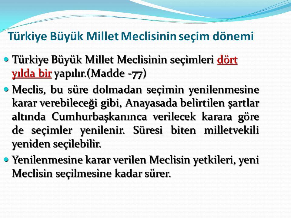 Yasama Dokunulmazlığı (madde-83) Türkiye Büyük Millet Meclisi üyeleri, Meclis çalışmalarındaki oy ve sözlerinden, Mecliste ileri sürdükleri düşüncelerden, o oturumdaki Başkanlık Divanının teklifi üzerine Meclisce başka bir karar alınmadıkça bunları Meclis dışında tekrarlamak ve açığa vurmaktan sorumlu tutulamazlar.