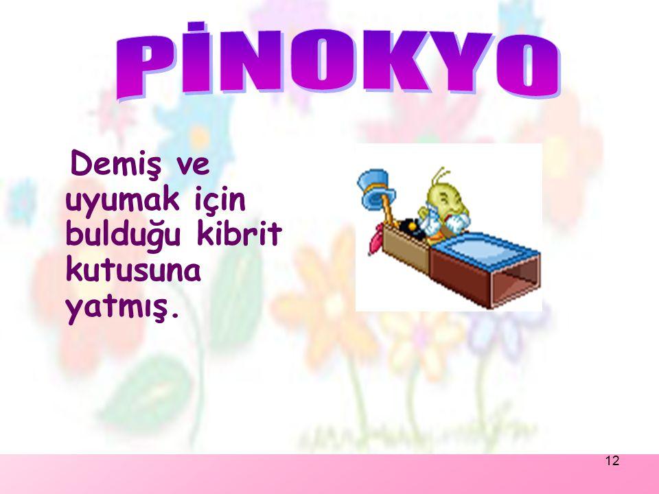 11 Pinokyo'nun yanına zıplamış: 'Merhaba dostum.Biliyorum Sen bir kuklasın konuşamazsın. Ama yine de iyi geceler.'