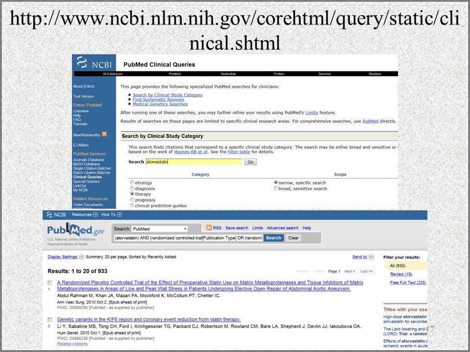 http://www.ncbi.nlm.nih.gov/corehtml/query/static/cli nical.shtml / 3731