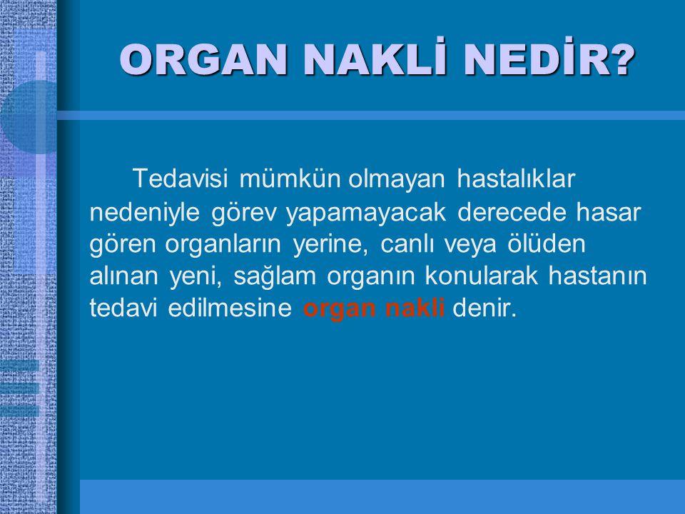 ORGAN NAKLİ NEDİR.