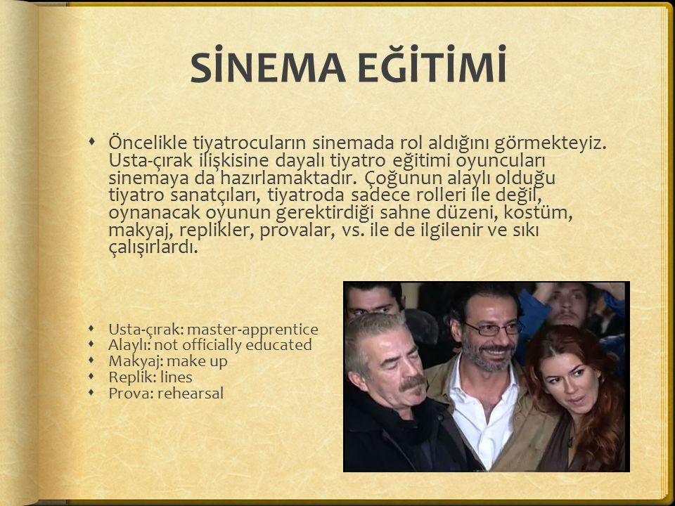 YABANCI FİLMLER Hollywood-Yeşilçam  Sinemalara getirilen yabancı filmler Türk sanatçılar tarafından seslendirilirken bazı uyarlamalar yapılır.