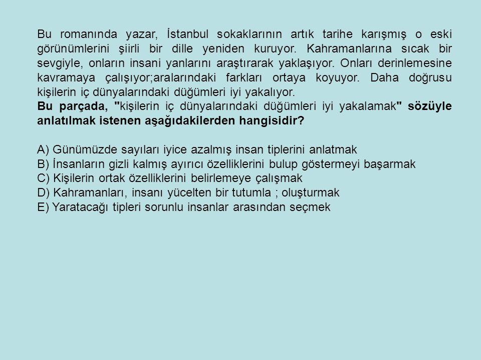 Bu romanında yazar, İstanbul sokaklarının artık tarihe karışmış o eski görünümlerini şiirli bir dille yeniden kuruyor. Kahramanlarına sıcak bir sevgiy