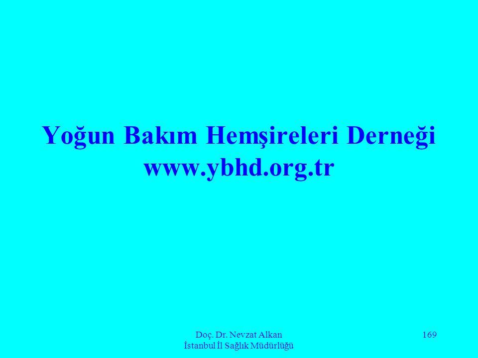 Doç. Dr. Nevzat Alkan İstanbul İl Sağlık Müdürlüğü 169 Yoğun Bakım Hemşireleri Derneği www.ybhd.org.tr