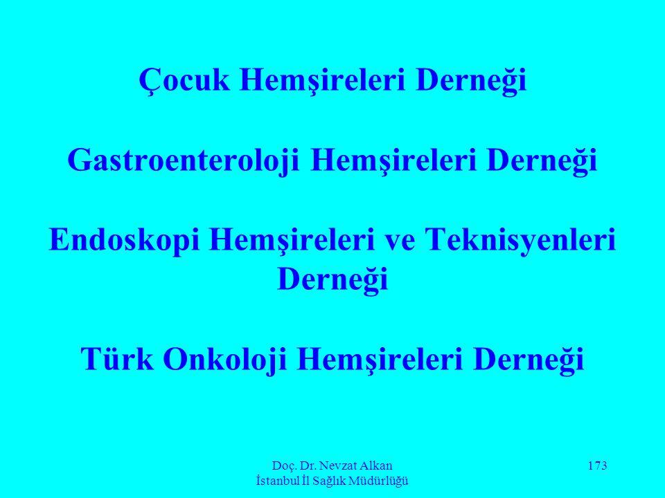 Doç. Dr. Nevzat Alkan İstanbul İl Sağlık Müdürlüğü 173 Çocuk Hemşireleri Derneği Gastroenteroloji Hemşireleri Derneği Endoskopi Hemşireleri ve Teknisy