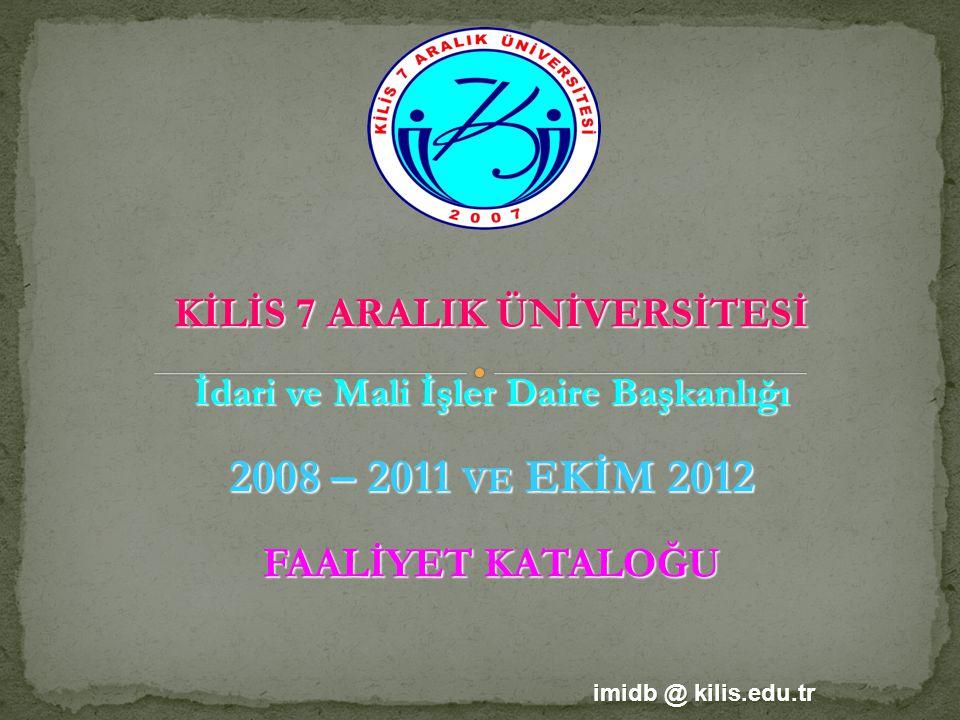 2009 YILI İHALE LİSTESİ