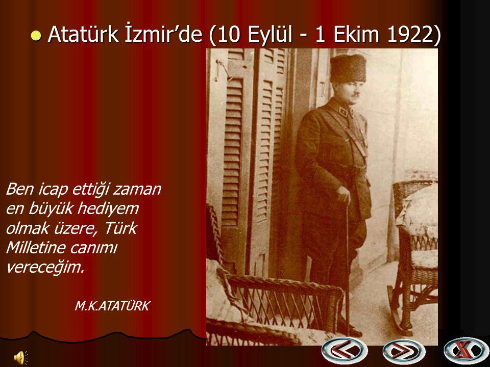 Türk Ordusunun askeri zaferi sonrasında İzmir'in Rumlar tarafından yakılışı (15 Eylül 1922) Türk Ordusunun askeri zaferi sonrasında İzmir'in Rumlar ta