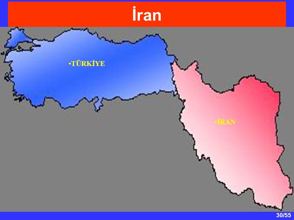 30/55 İran TÜRKİYE İRAN