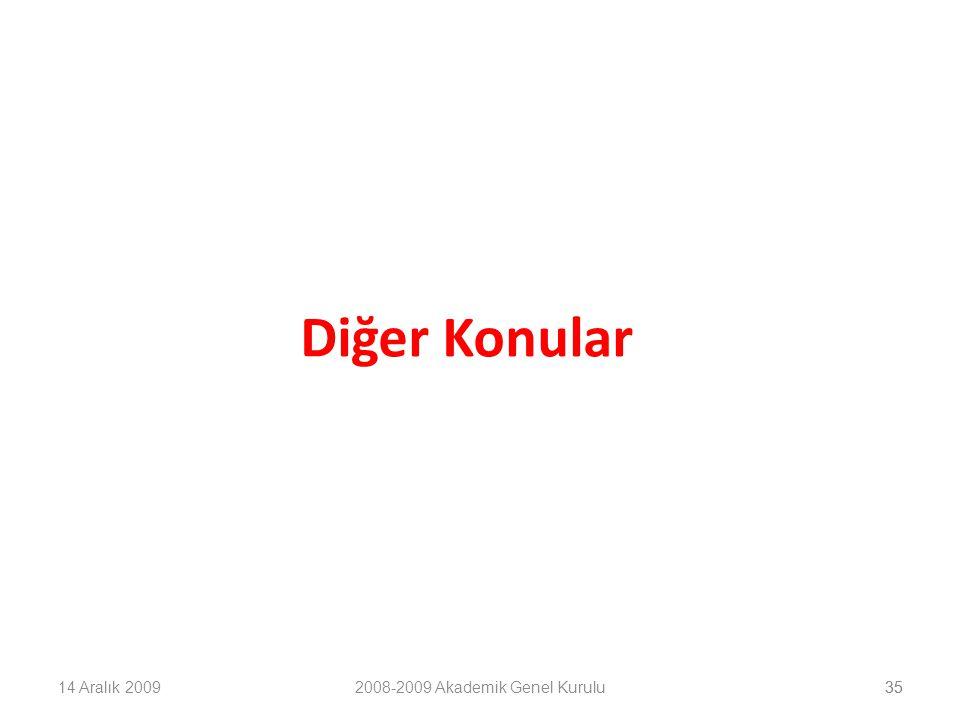 35 Diğer Konular 14 Aralık 20092008-2009 Akademik Genel Kurulu35
