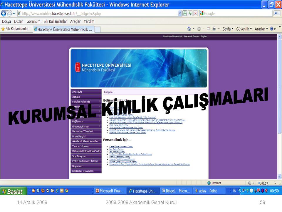 5914 Aralık 20092008-2009 Akademik Genel Kurul59
