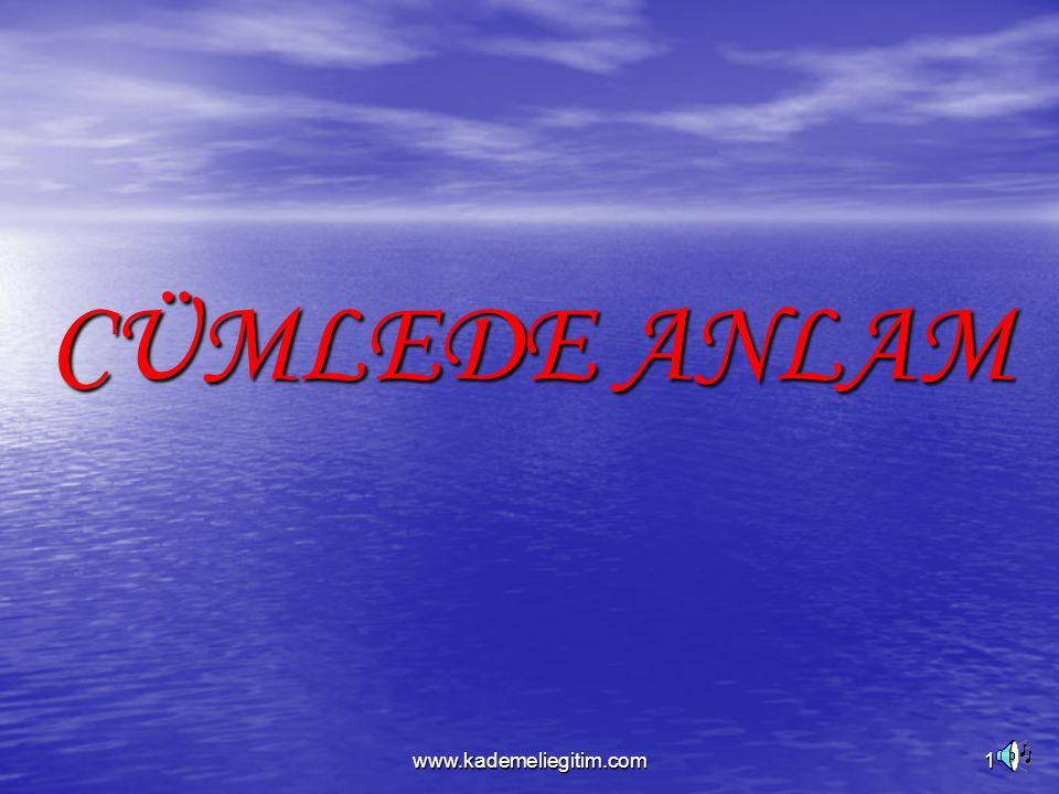 www.kademeliegitim.com1 CÜMLEDE ANLAM
