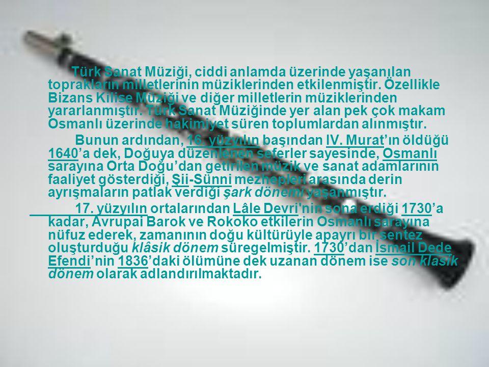 Türk Sanat Müziği, ciddi anlamda üzerinde yaşanılan toprakların milletlerinin müziklerinden etkilenmiştir. Özellikle Bizans Kilise Müziği ve diğer mil