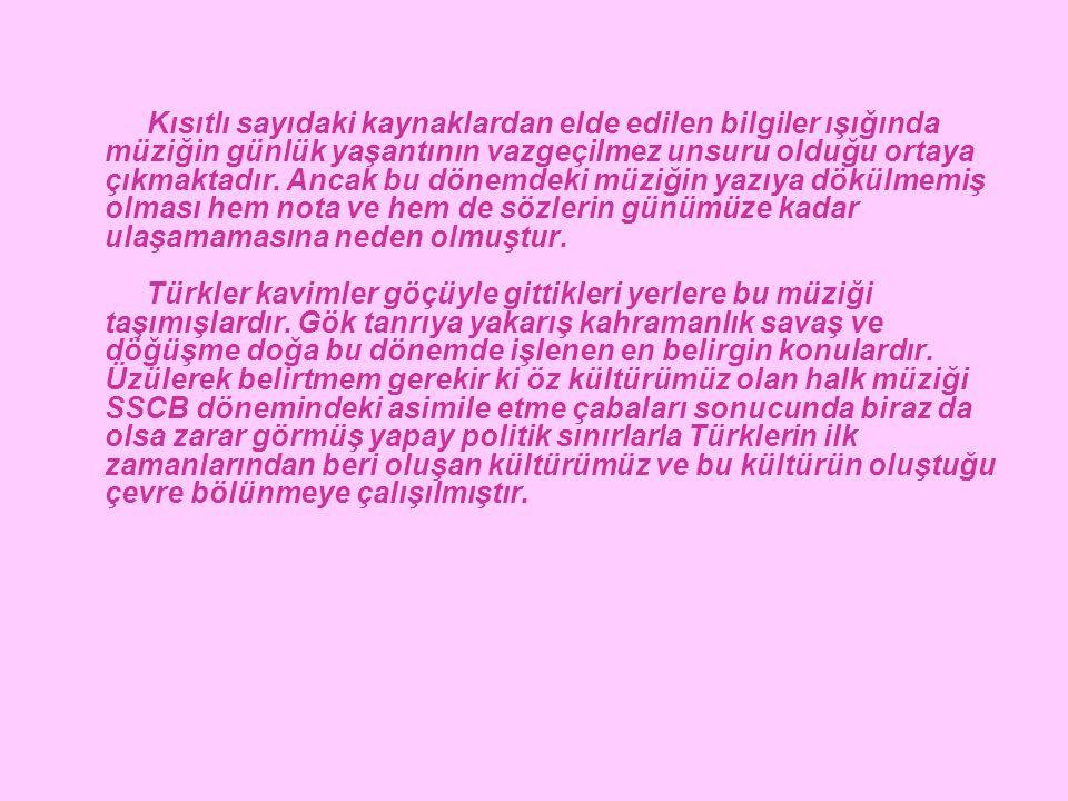 b)İslamiyet Etkisi Altındaki Dönem M.S.925'lerde batıya yönelen Türk boyları Karahanlılar'dan başlayarak İslamiyet'i kabul etmeleri ile yaşama şekillerinde ve kültür yapılarında değişimler göstermeye başlamışlardır.