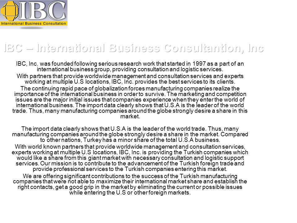IBC, Inc.