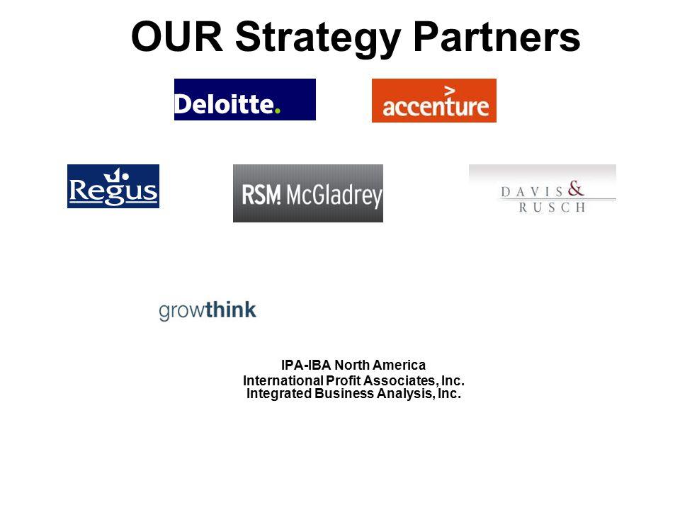 OUR Strategy Partners IPA-IBA North America International Profit Associates, Inc. Integrated Business Analysis, Inc.