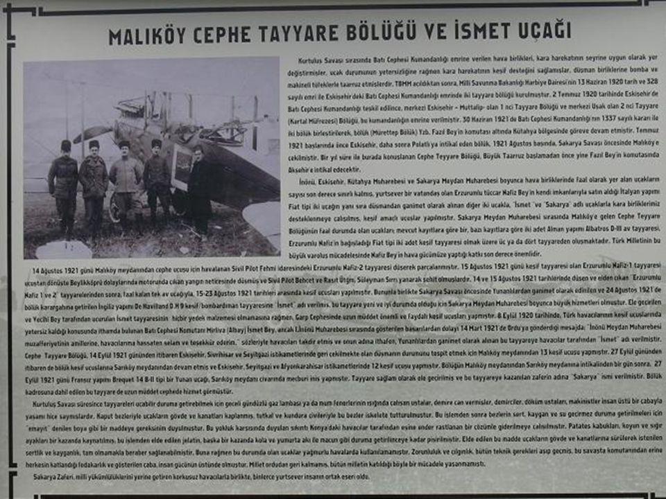 Tabelanın özeti şöyle: 1920 yılında Garp Cephesi Komutanlığında Tayyare Bölüğü kurulmuştur.