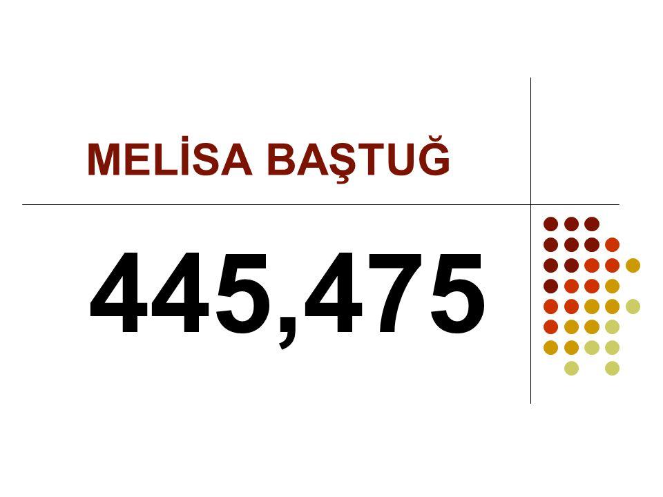 MELİSA BAŞTUĞ 445,475
